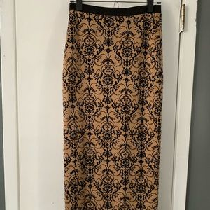 Body central tan and black long maxi skirt size S
